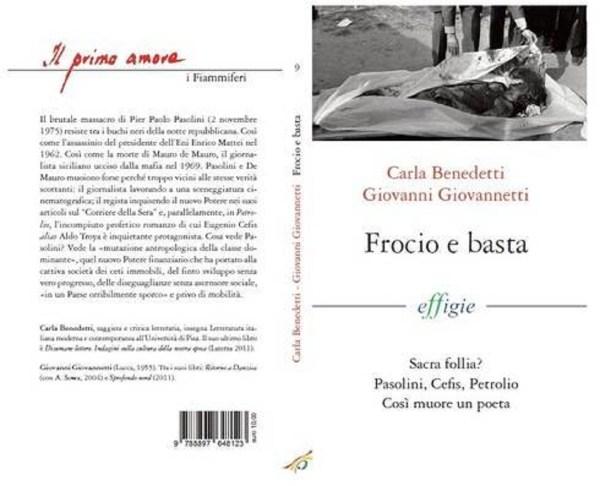 """Lo svolto di copertina di """"Frocio e basta"""" di C. Benedetti e G. Giovannetti (2013)"""