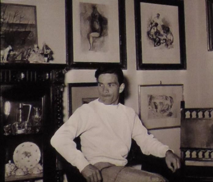 Pier Paolo Pasolini a Roma nella casa di via Fonteiana (1954)