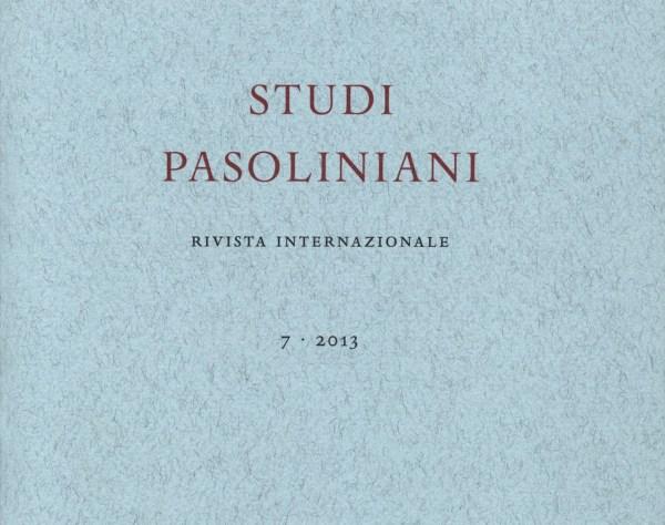 """Studi pasoliniani"". Copertina"