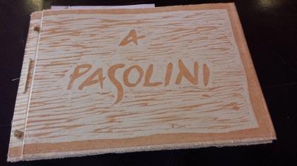 """Libro d'artista """"A Pasolini"""" – Isabella Ceciliot"""
