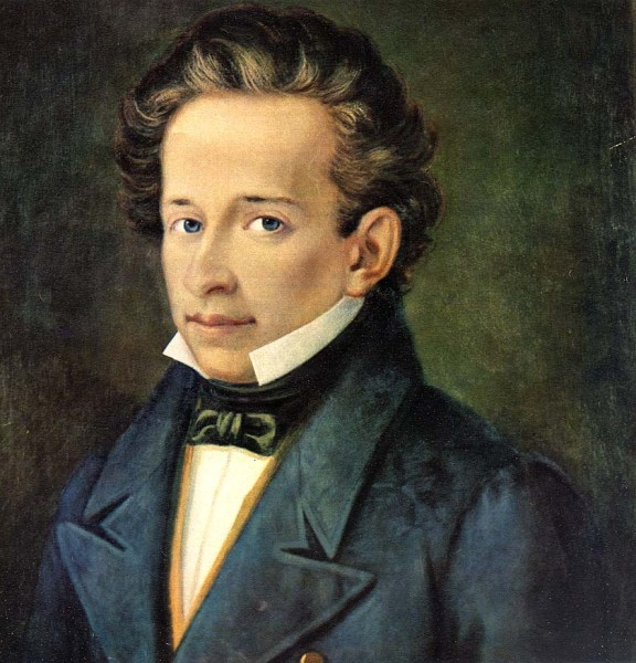 Giacomo Leopardi. Ritratto di A. Ferrazzi (1820 ca.)