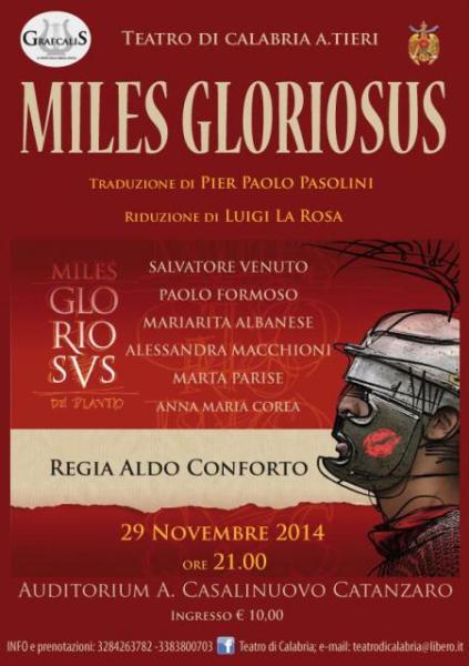 """""""Miles gloriosus"""" a Catanzaro. Locandina"""
