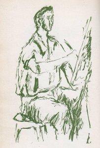 Pier Paolo Pasolini, Ragazzo che dipinge, 1943