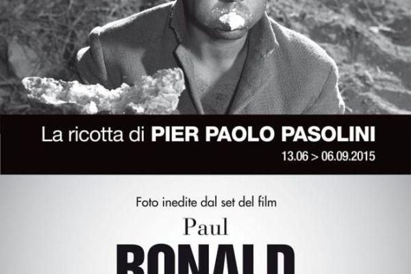 """""""La ricotta di Pier Paolo Pasolini"""", nelle foto di Paul Ronald. Manifesto"""