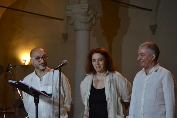 Da sx, Aldo Bagnoni, Giusi Zaccagnini e