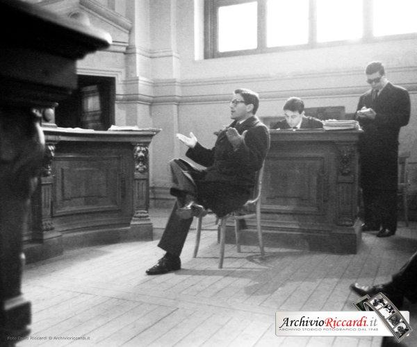Pasolini in tribunale (1963). Archivio Riccardi