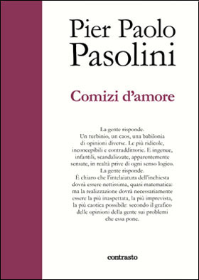 """Comizi d'amore"", ed. Contrasto. Copertina"
