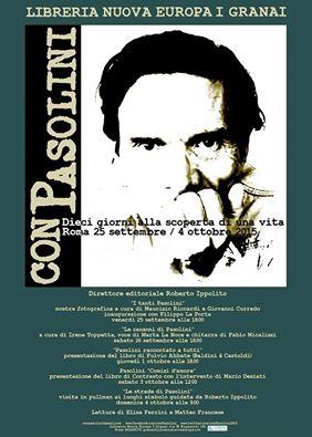 """""""conPasolini"""". Locandina"""