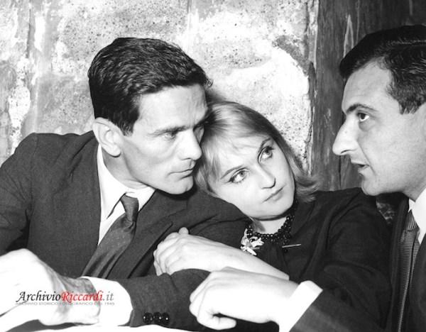 Pasolini, Laura Betti e Parise allo Strega del 1960. Archivio Riccardi