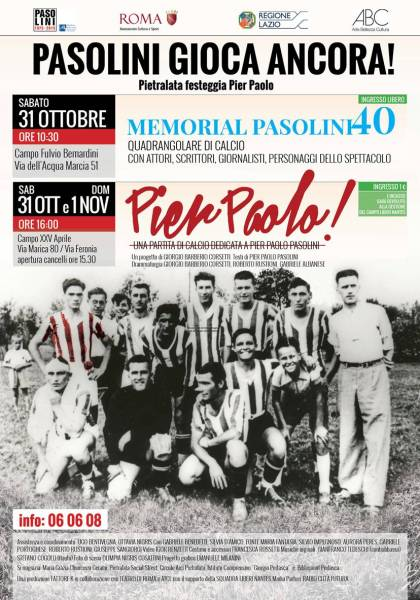 """Pier Paolo!"" a Roma. Locandina"