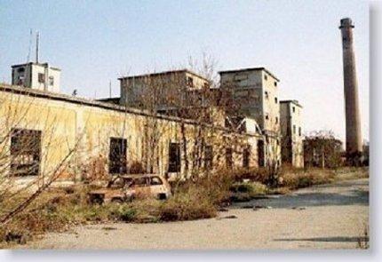 Roma. La fabbrica dismessa della Snia Viscosa. Esterno