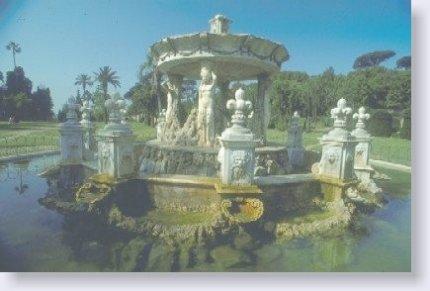 Roma. Villa Doria Pamphili. Fontana di Cupido
