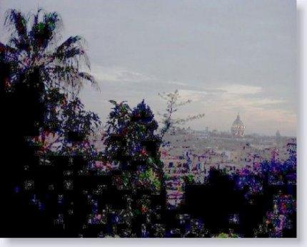 Roma. Il Pincio al tramonto