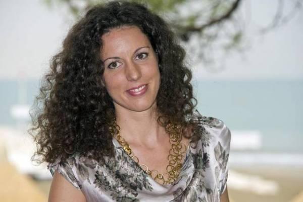 Silvia Avallone. Foto di Piergiorgio Pirrone - LaPresse 3.9. 2012 Lido di Venezia