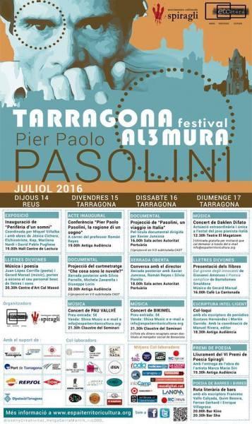Il Festival per Pasolini a Tarragona e Reus. Manifesto