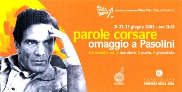 """""""Parole corsare"""" al Paolo Pini di Milano. Manifesto"""