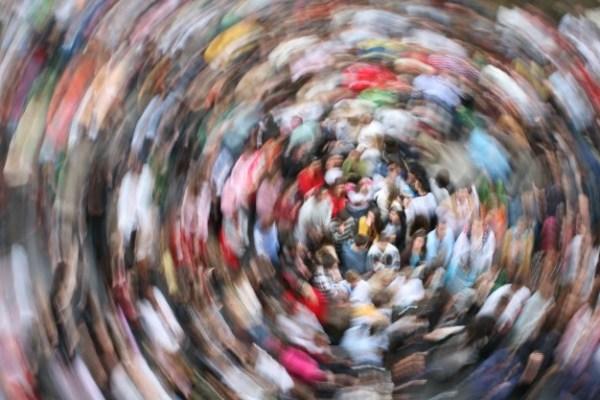 Folla in movimento