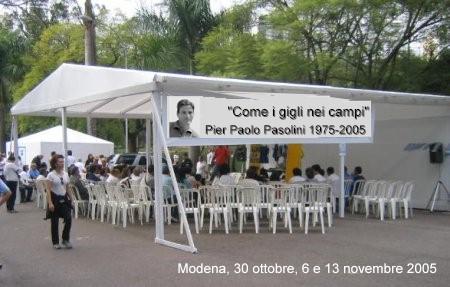 Il ricordo di Modena a Pasolini (2005)