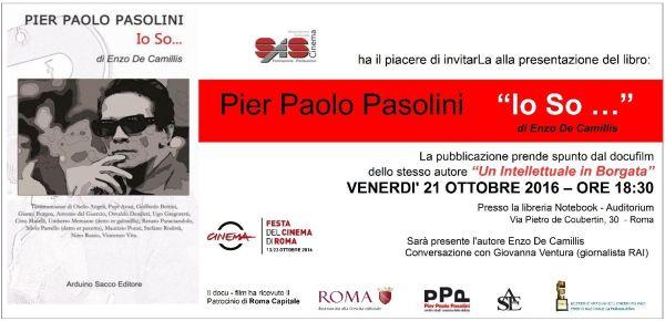 """""""Io so ..."""" a cura di Enzo De Camillis. Presentazione a Roma. Cartolina"""