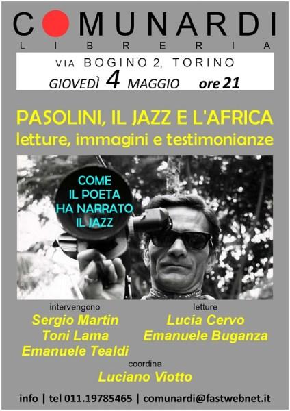 """""""Pasolini, il jazz e l'Africa"""". Locandina"""