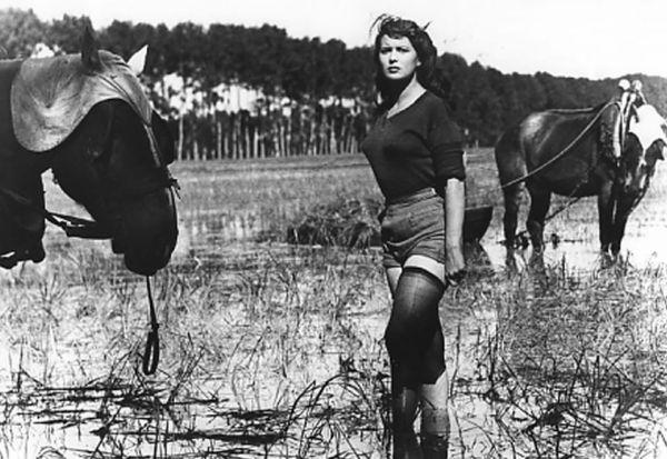 """Silvana Mangano in """"Riso amaro"""" (1949)"""