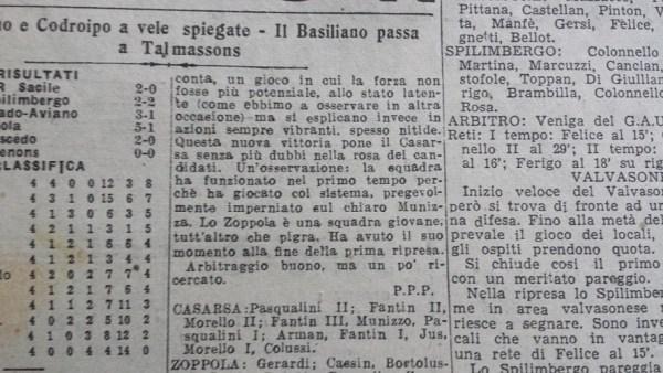 Il Friuli Sportivo, 17.XI.1947. Cronaca a firma P.P.P.