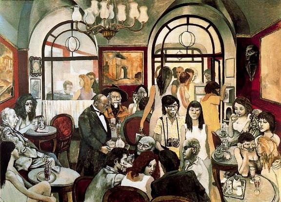 """""""Caffè Greco"""" (1976), olio di Renato Guttuso,"""