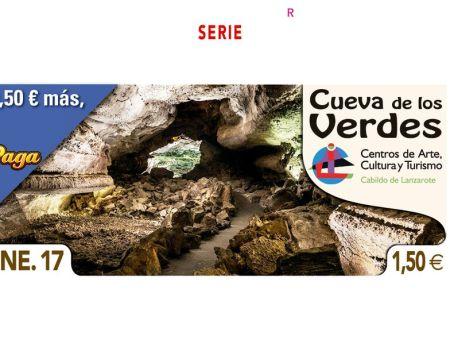 La belleza de la Cueva de los Verdes en el cupón diario de la ONCE