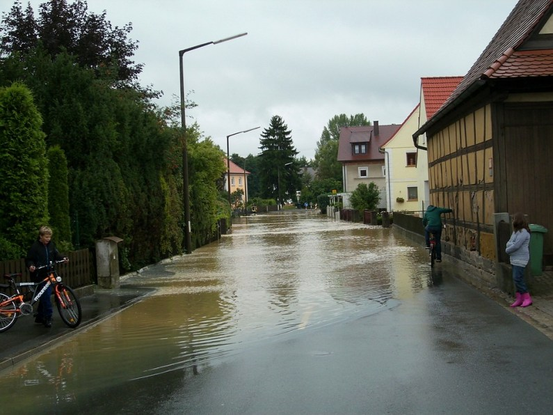 Flood on the street