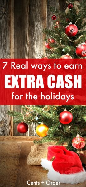Tight budget for Christmas? Earn extra money for Christmas. Start saving for the holidays with these 7 REAL ways to earn extra cash for Christmas.