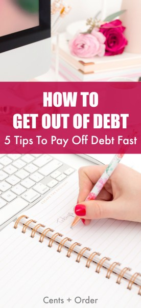 Tired of mounting credit card bills and student loans? Five tips to save money and learn how to pay off debt. These strategies will help you get out of debt fast!