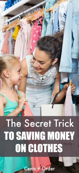 Kids outgrow clothes so fast and it's such a budget buster! Don't miss this secret trick for saving money on new clothes for your kids!