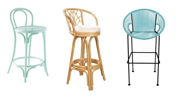 tropical colorful counter stools