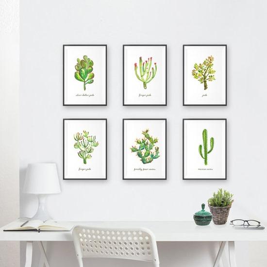 cactus and succulent art