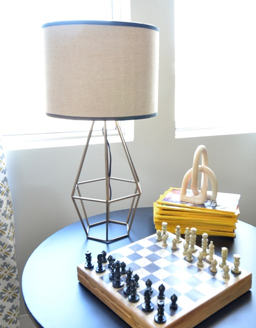 brass diamond lamp