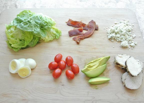 chopped cobb salad ingredients