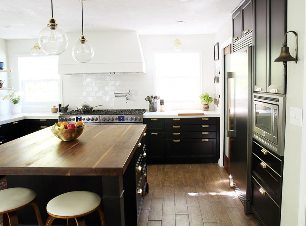 black and white kitchen makeover
