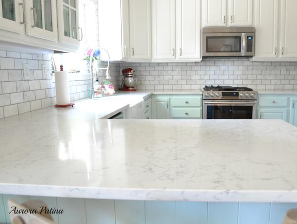 blue and white kitchen remodel aurora