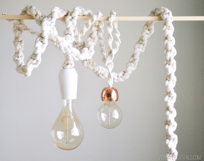 macrame rope lights