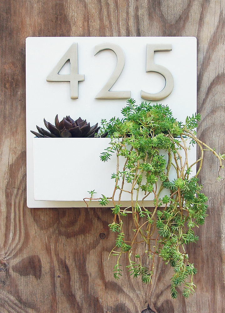 urban address planter