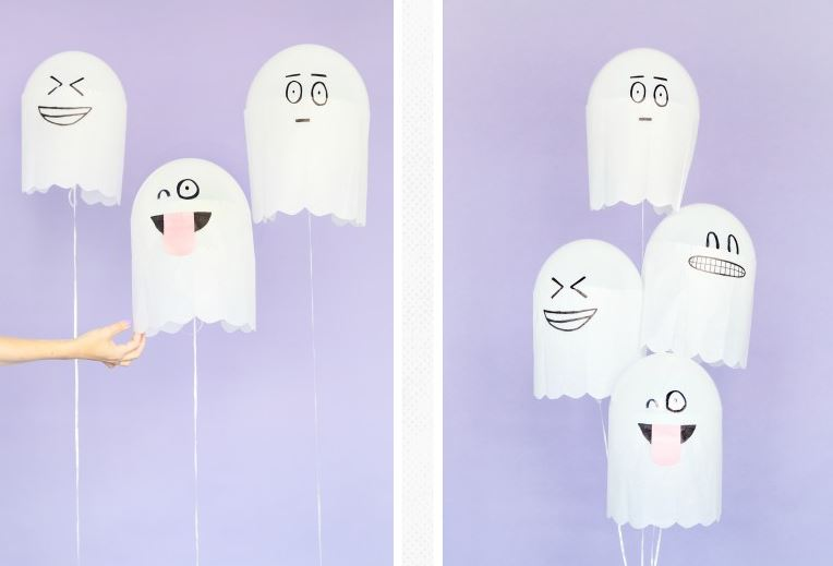 silly halloween ghosts