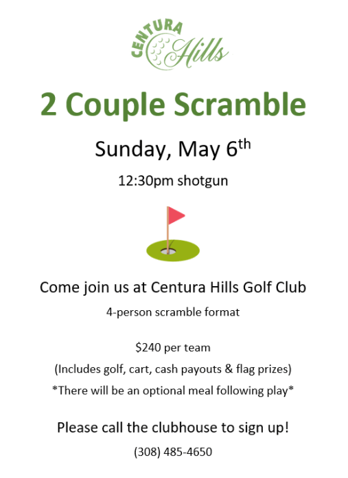spring 2-couple scramble - centura hills golf club