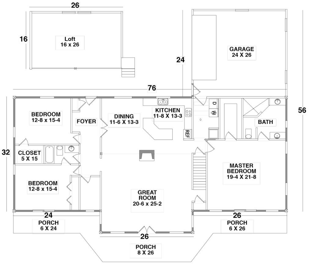 Floor Plan for the GRASS VALLEY by Century Cedar Homes