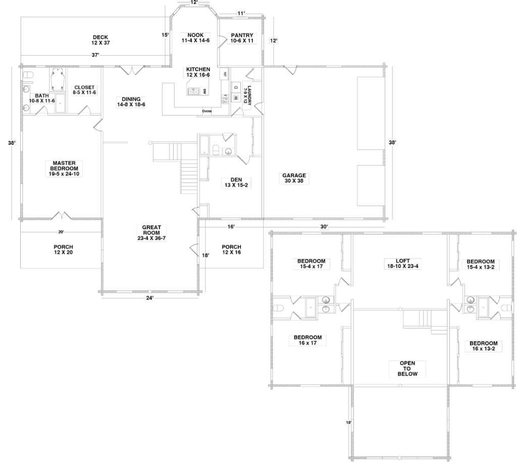 Floor Plan for the TAMMARON PINES5 by Century Cedar Homes