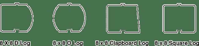 Log profiles - 8x8