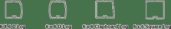 Log profiles - 6 X 6