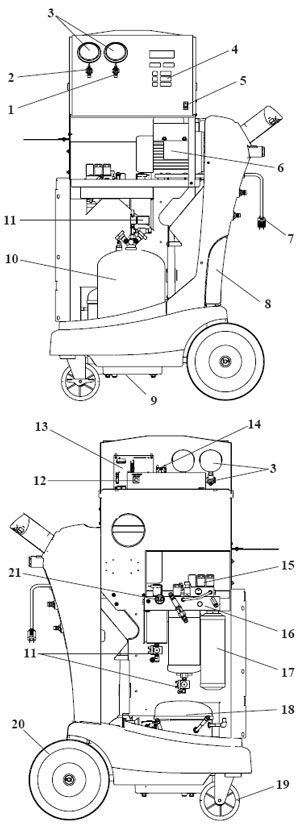 Robinair 34288 R134A Recovery Recycling Unit Parts