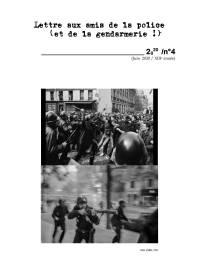 Lettre aux amis de la police 2020-4-1-1