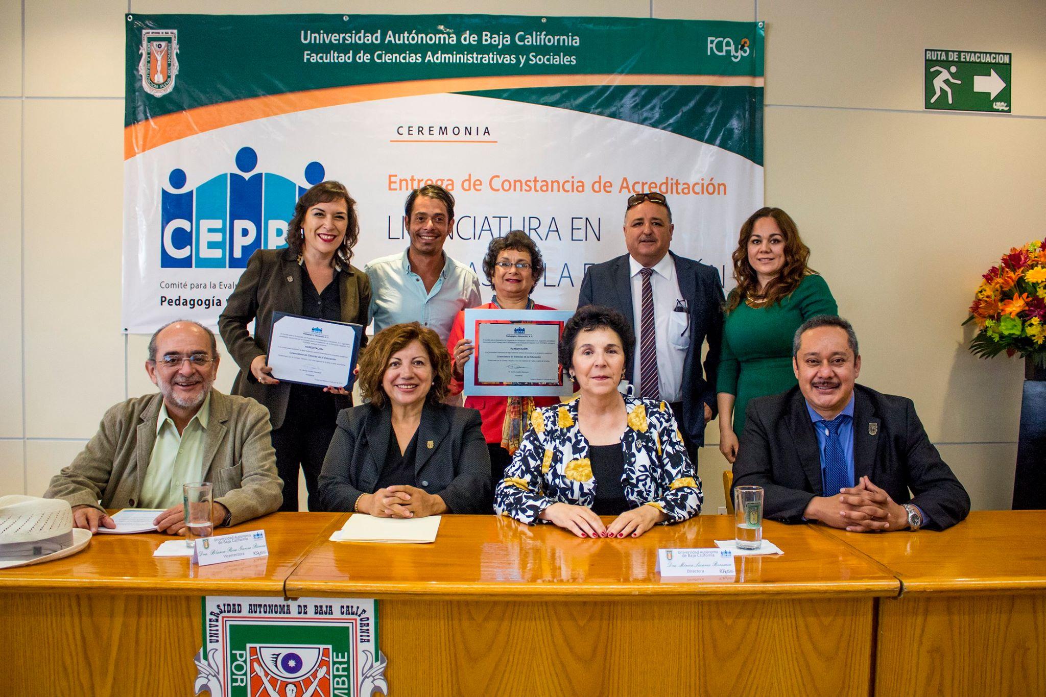 Acreditación de la Lic. en Ciencias de la Educación de la UABC campus Ensenada
