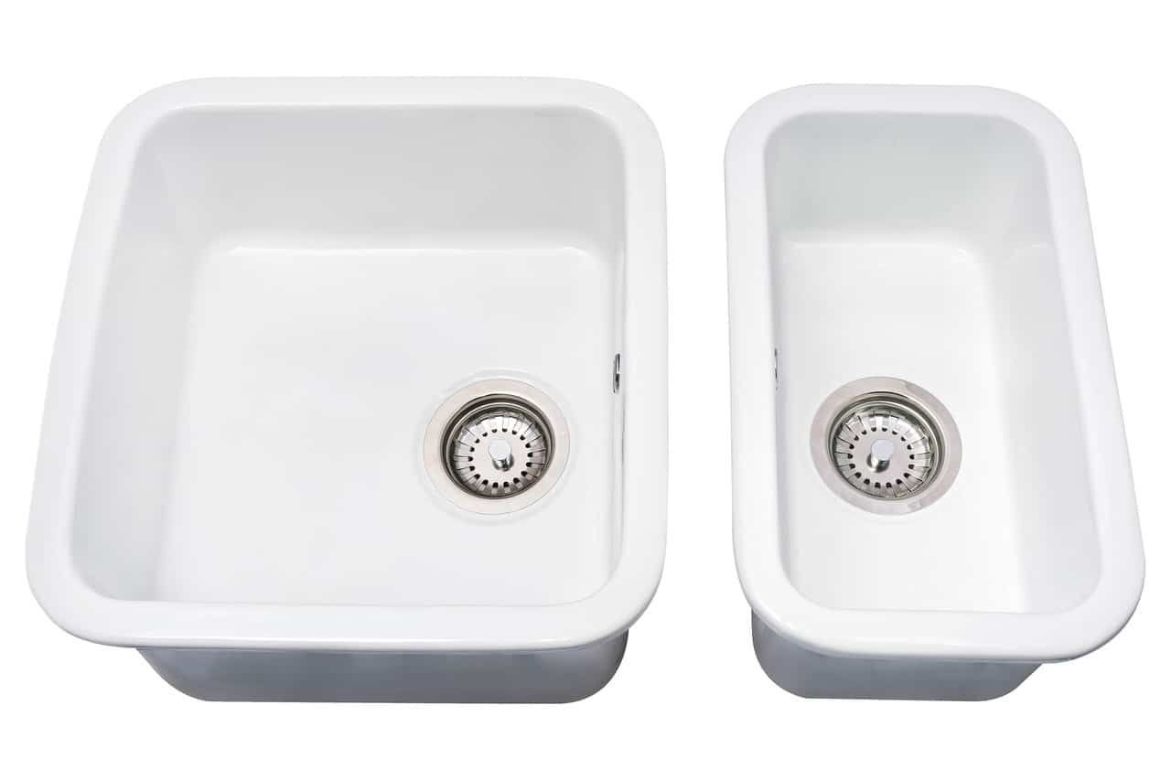 white ceramic kitchen 1 0 single bowl sink and the 0 5 sink
